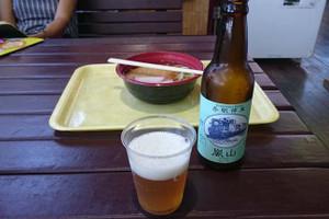 嵐山ビールときつねうどん