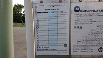 富岡バスターミナルの時刻表:2番乗り場