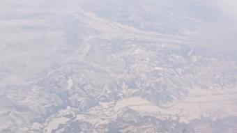 機内からの風景:山形辺り?