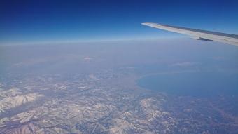 機内からの風景:青森