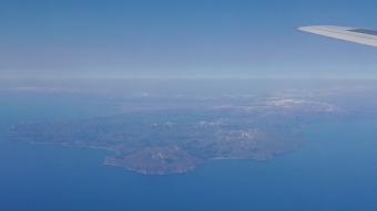 機内からの風景:函館