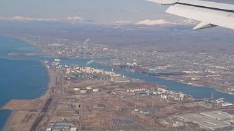 機内からの風景:苫小牧