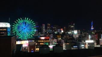 ルートイン札幌中央:部屋からの夜景