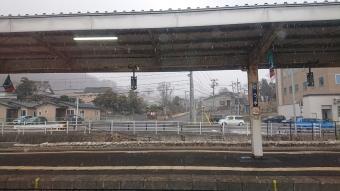 車内から見た洞爺駅