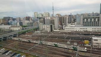 地球館の屋上から見た上野駅方面
