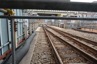 産業道路駅:1階の構内から見えた旧線路