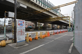 産業道路駅:踏切があった所