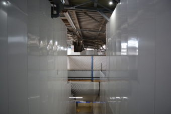 産業道路駅:1階の構内から見えた旧設備