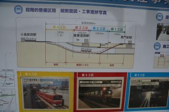 産業道路駅付近地下化工事の図