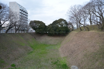 三の丸東側の空堀