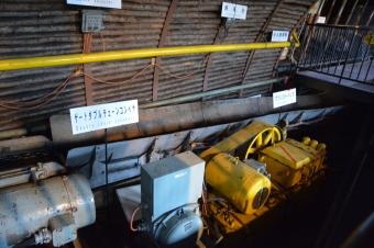 採炭機械の実演運転