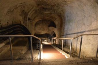 模擬坑道の入口