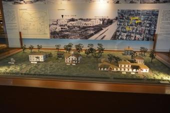 札幌農学校のキャンパスの模型