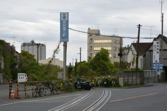 東亜石油への貨物線跡